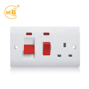 Estándar BS 45 amp DP cocina pared interruptor de control socket