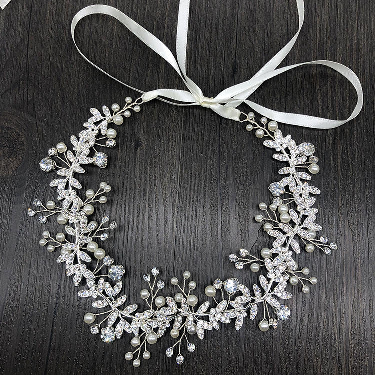 SHSS2026 Hot sale bridal hair accessories wedding headband flower garland headband braided hair band
