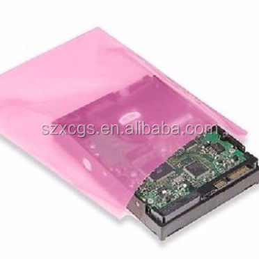 "6""x8"" Anti-Static Lay Flat Poly Bags Pink Hard Drives Electronics 2 Mil ESD Bags"