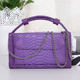 Fashion Style Clutch Wallet Bag Snake Skin Pattern Leather Women Long Wallet with Chain 2020 Hot Sales