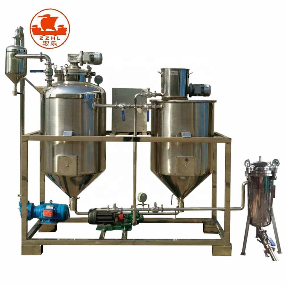 Palm Oil Refining Machine Automatic High Efficiency 500L Per Day Refined Coconut Palm Canola Oil Refined Oil Malaysia