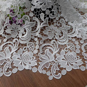 White Guipure Lace African Cord Lace Fabric for garment HY0355
