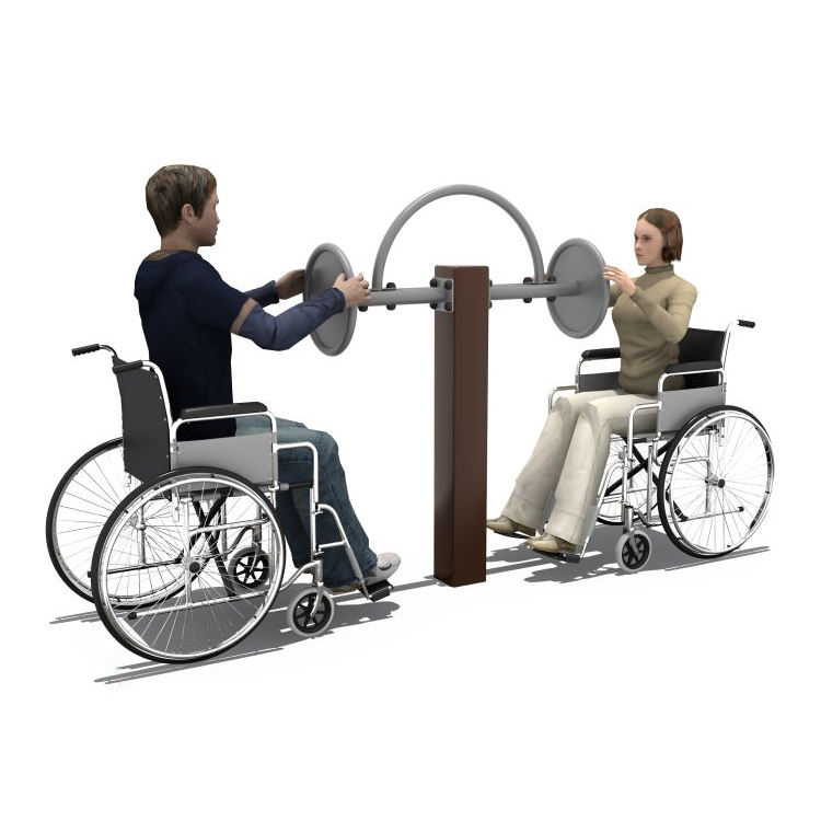 Park Public Garden Disable Double Persons Used Fitness Equipment for Handicapped