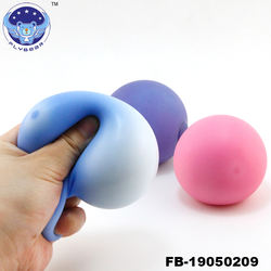 2019 TPR Stress Ball Sunshine Color Change Ball Squeeze Anti Stress Relief Toys For Kids