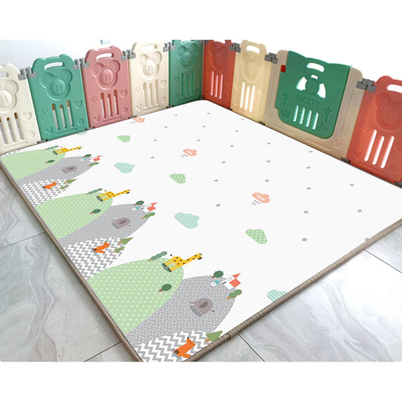 High density eco friendly XPE foam crawling baby mat play