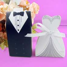 Bride And Groom Dresses Wedding Candy Box Gifts Favor Box Wedding Bonbonniere DIY Event Party Supplies