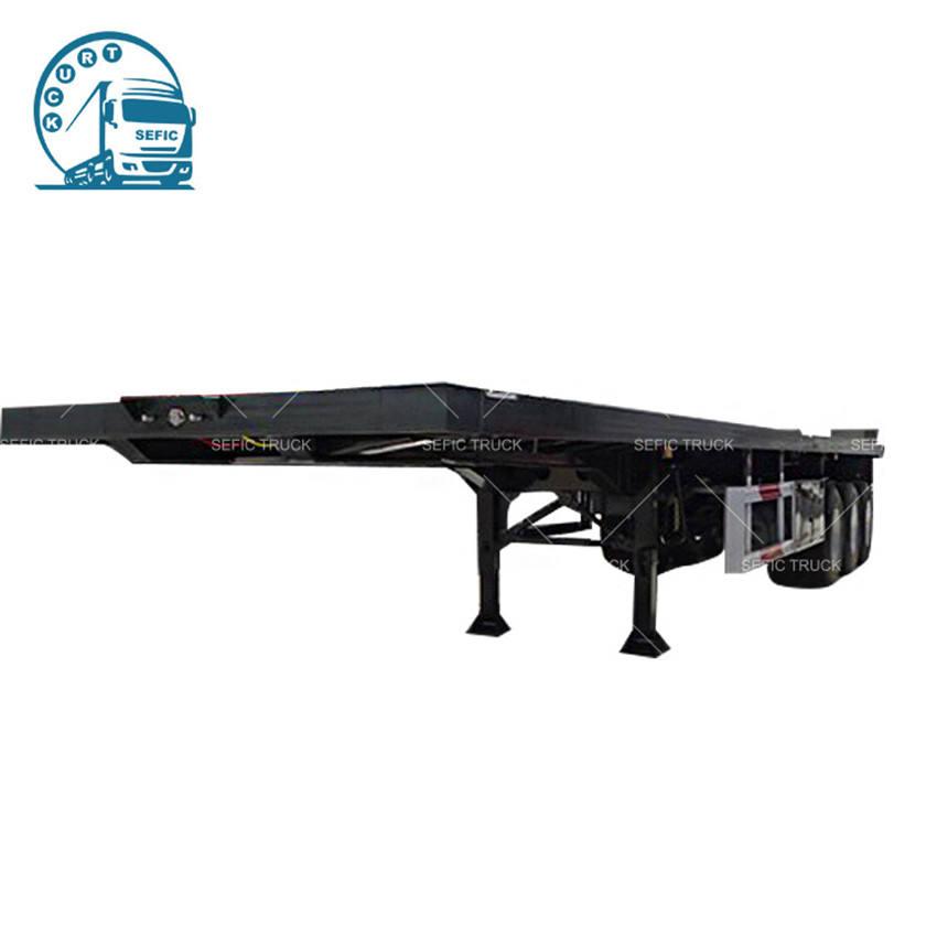 Fabrika Konteyner <span class=keywords><strong>Taşıyıcı</strong></span> 3 Aks 40ft Flatbed Platformu Yarı Römork