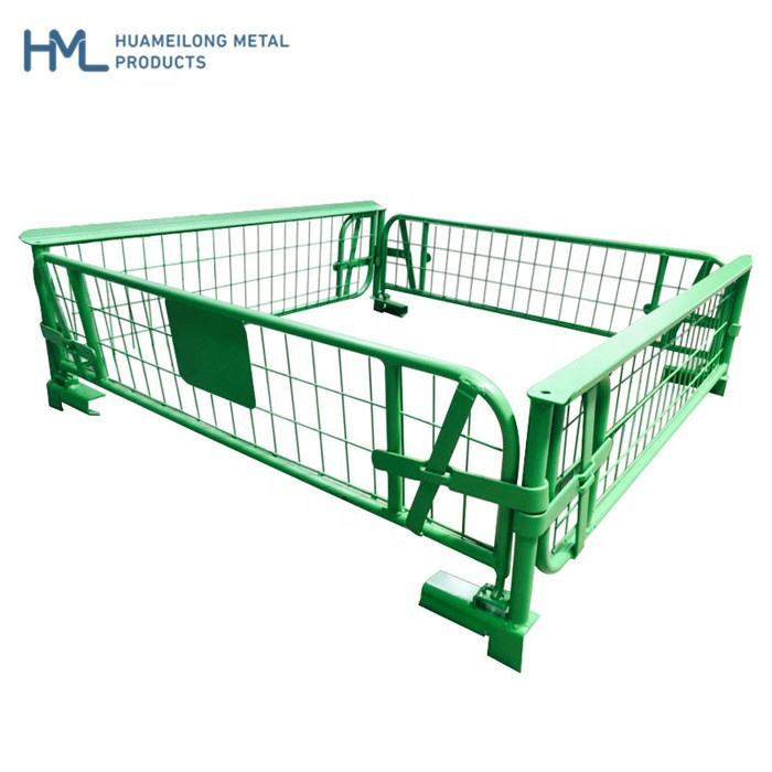 Stacking durable metallic folding industrial metal storage collapsible warehouse steel wire mesh cage pallet for sale