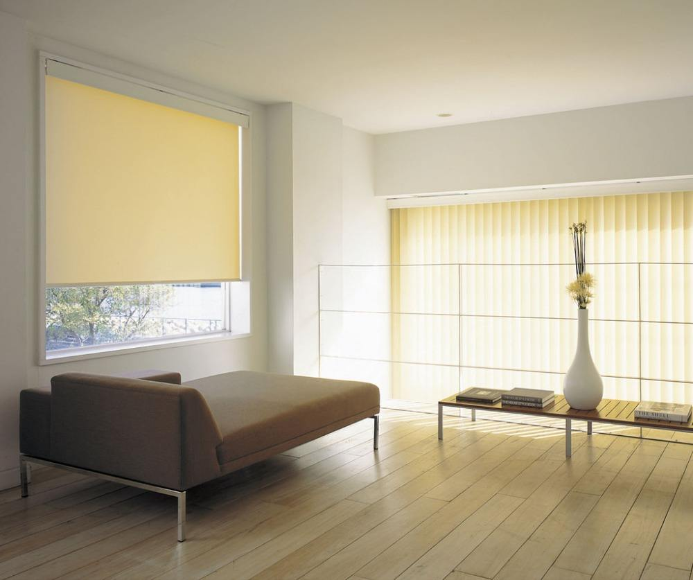 Home Decor Pleated Blackout solar roller shades /roller blinds for