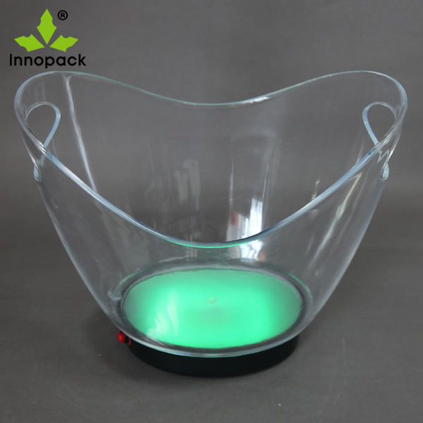 Acrylic Ice Bucket /Wine beer cooler /Led Lighted Ice Bucket