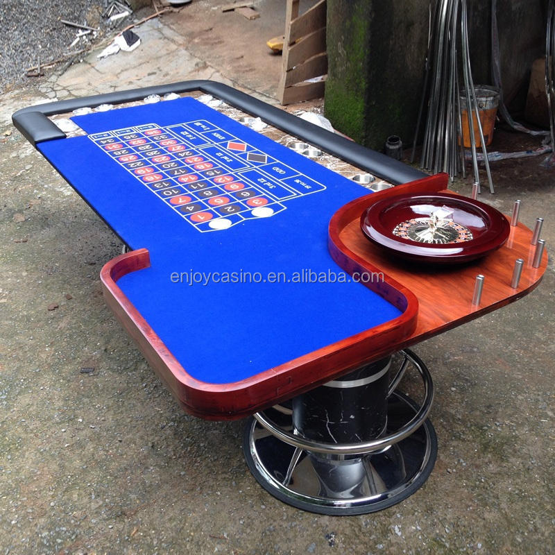 96-Inch Casino Deluxe Roulette Table with deluxe chrome legs