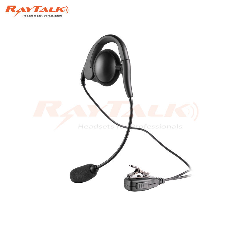 2 Way Radio CP040 Single Ear Intercom Headset dengan Kerah Kecil Mikrofon