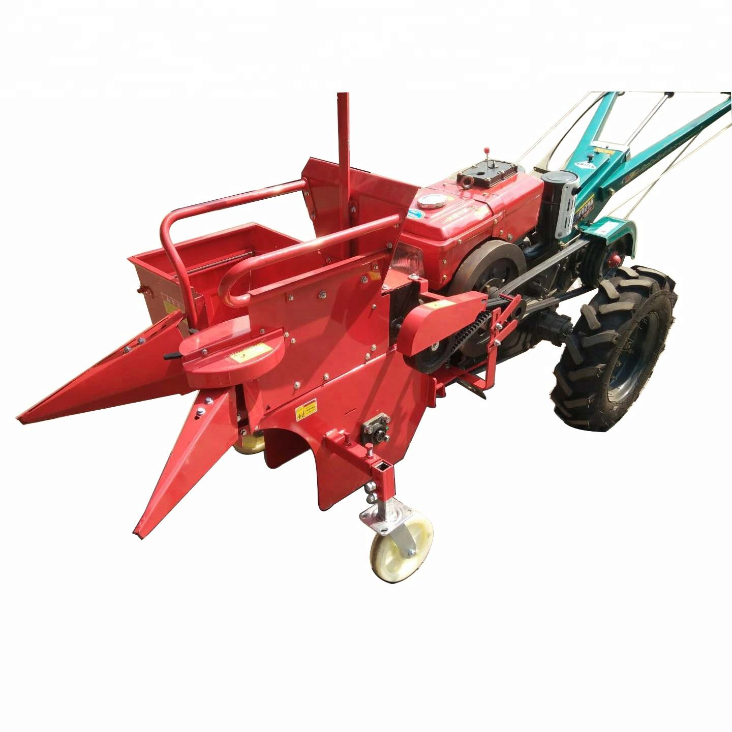 mini single row corn maize combine harvester in India