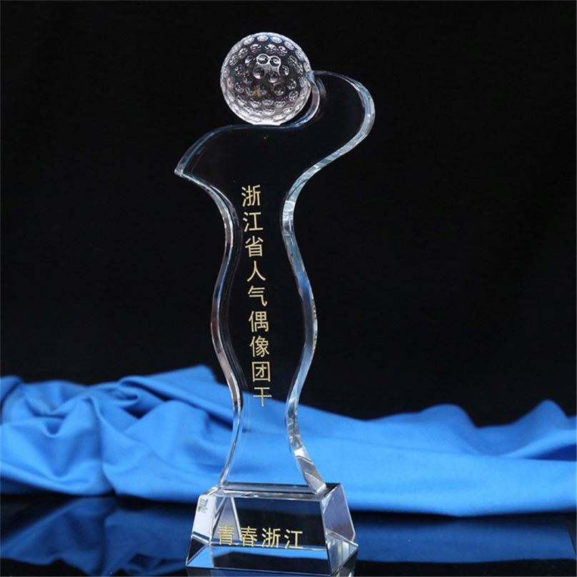 Awards Plaque Blank Glass Customized Crystal Trophy Carved 1 Pcs Winner Honor& Business Gift Nice Gift Box Folk Art Transparent