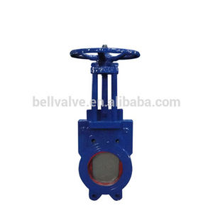 High quality 6 inch manual wafer knife gate valve price