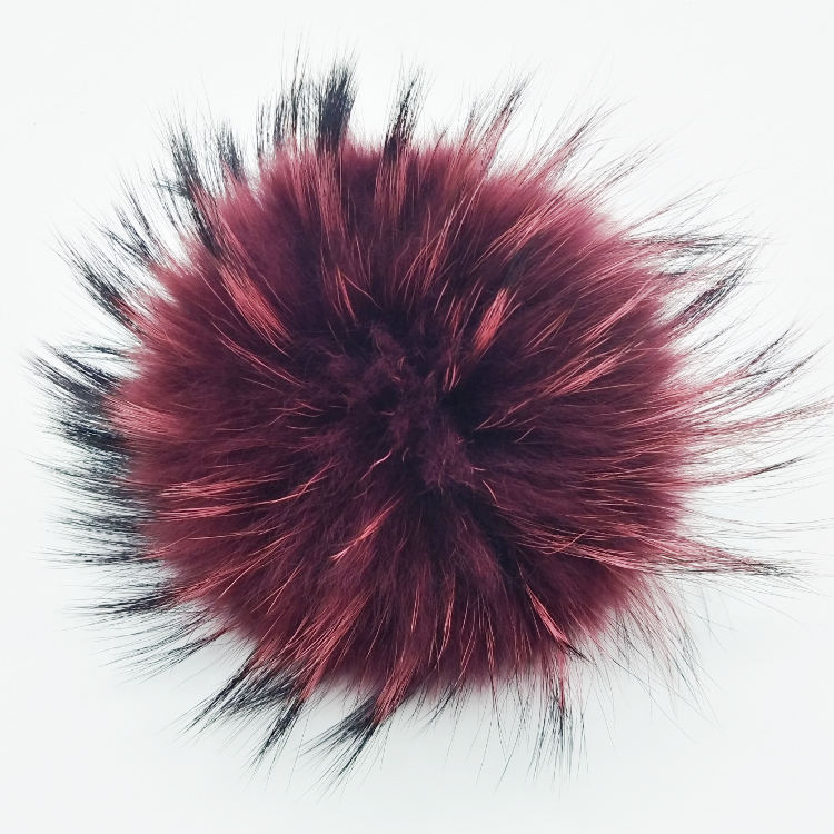 15cm natural color real raccoon fur pom pom