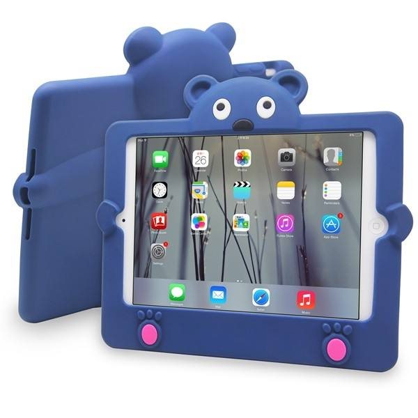 JUNCHI for iPad mini 1 2 3 Cartoon Silicone Bear Tablet Case Shockproof Rugged Tough Cover