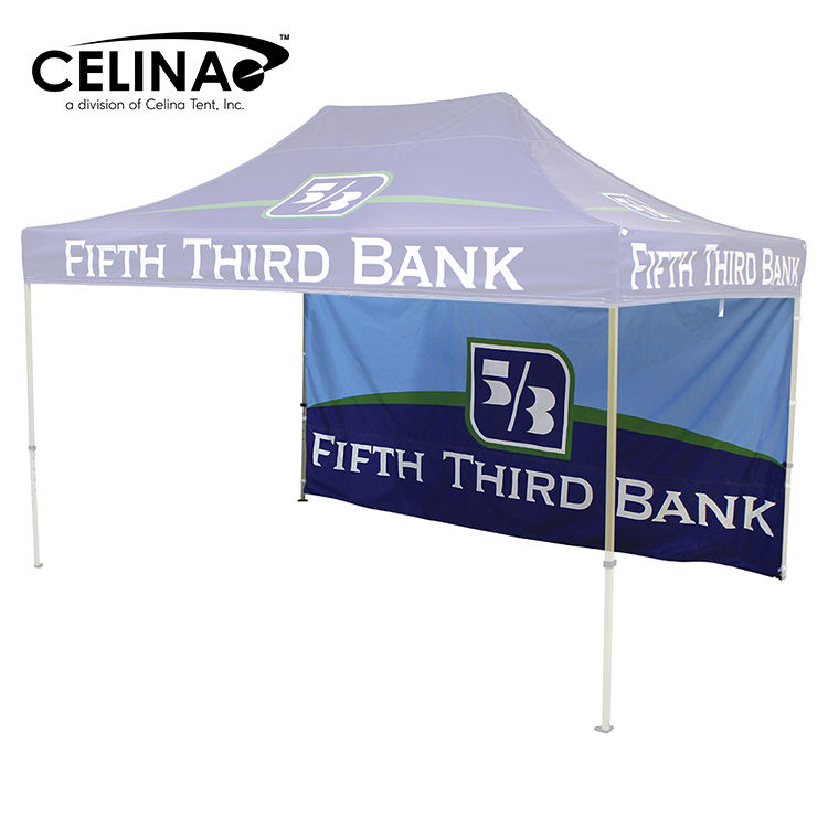 Celina Custom Logo CanopyLarge Portable Trade Show Tent Gazebo Printed Tent 3 m x 4.5 m (10 ft x 15 ft)