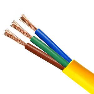300/500 볼트 3x2. 5mm2 유연한 와이어 전기 케이블 3 코어 전원 케이블