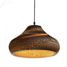 Bamboo Paper Pendant Lamp Shades Lighting for Bar