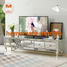 Wholesale Low Price Modern Venetian Bedroom Furniture Mirrored TV Stand.