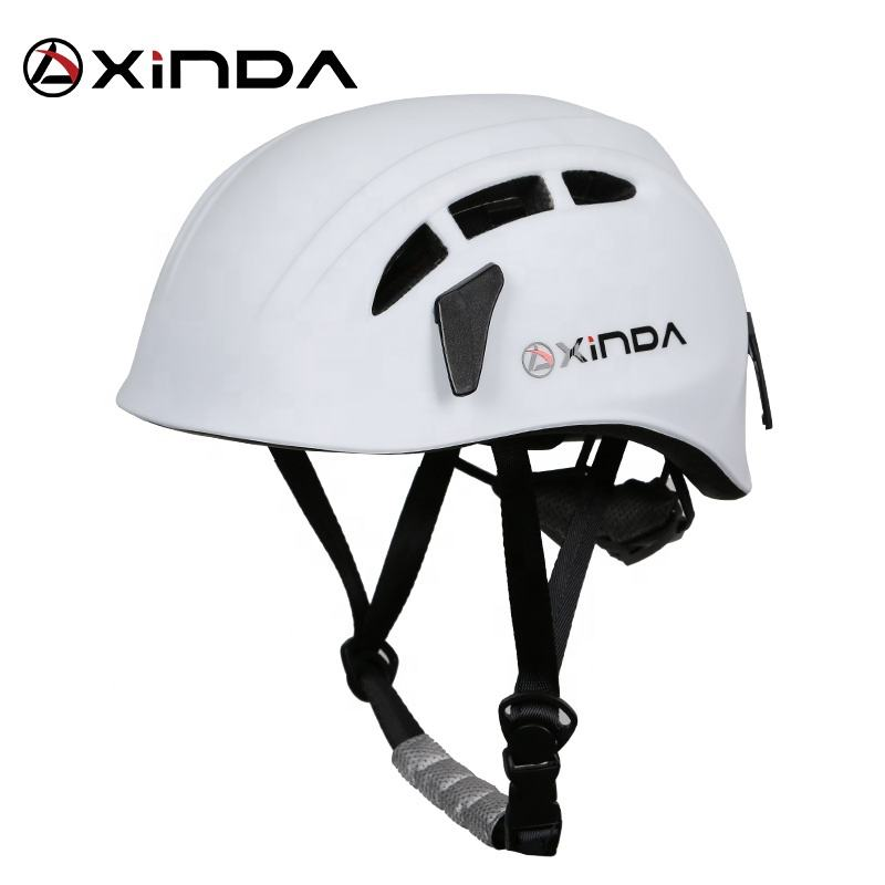 xinda outdoor sports rock climbing helmet safety helmet ABS comfortable lightweight white