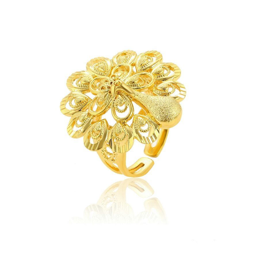 15701 Xuping latest Peacock shape 24K gold plated fashion women ring