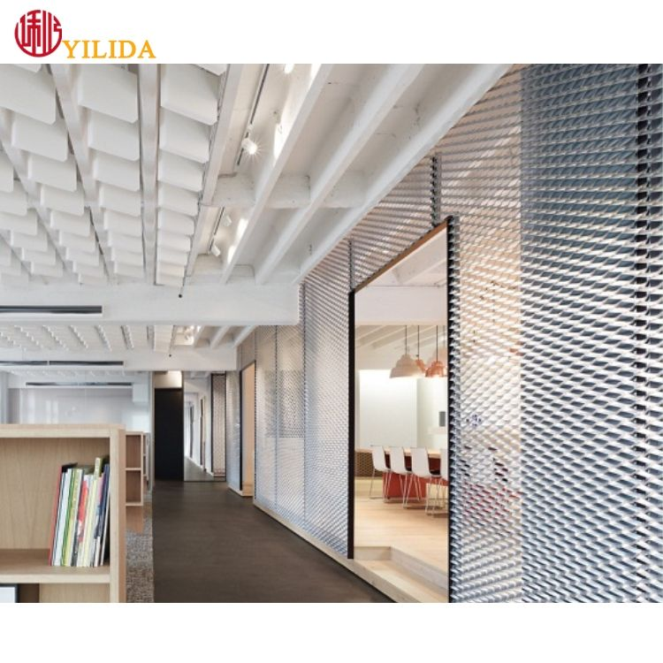 Best quality decorative modern expanded metal mesh panels for interior design / room divider