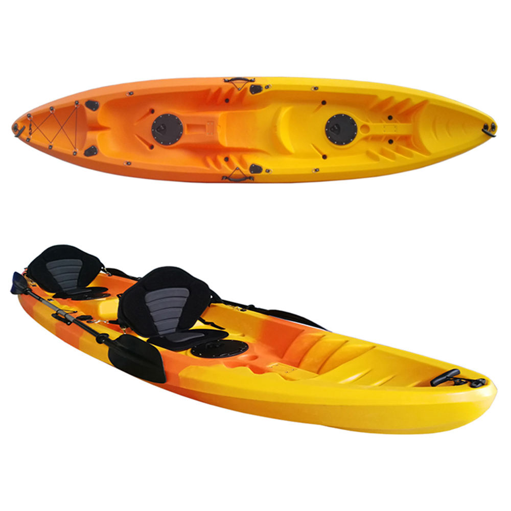 JFM GK28 Double Plastic Kayak for 2 Person Molded Boats Canoes Sit on Top Kayak