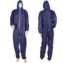 Hot PP Non-woven Hooded Disposable Safety Coverall Working Clothes
