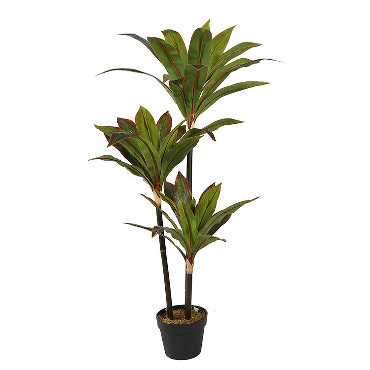 Highly Simulation 1.1m Ornamental Artificial New Lovers Dracaena Fragrans Indoor Plant Artificial Plants
