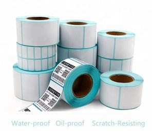 4X3 DT Direct thermal labels Blank white labels on a 3 core perforated  1800 Labels per roll with 4 rolls in a box