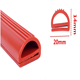 e shape extruded silicone oven door seal gasket