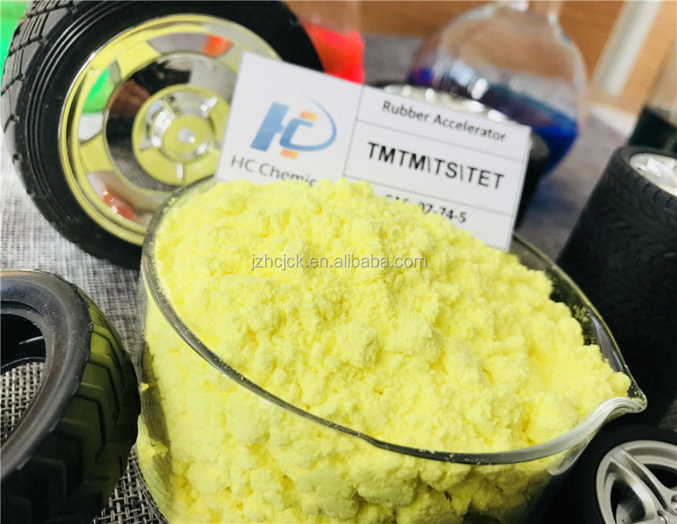 High Purity Rubber Accelerator TMTM/TS Rubber Chemicals Promoting Agent CAS:97-74-5 Used in Whole Tire