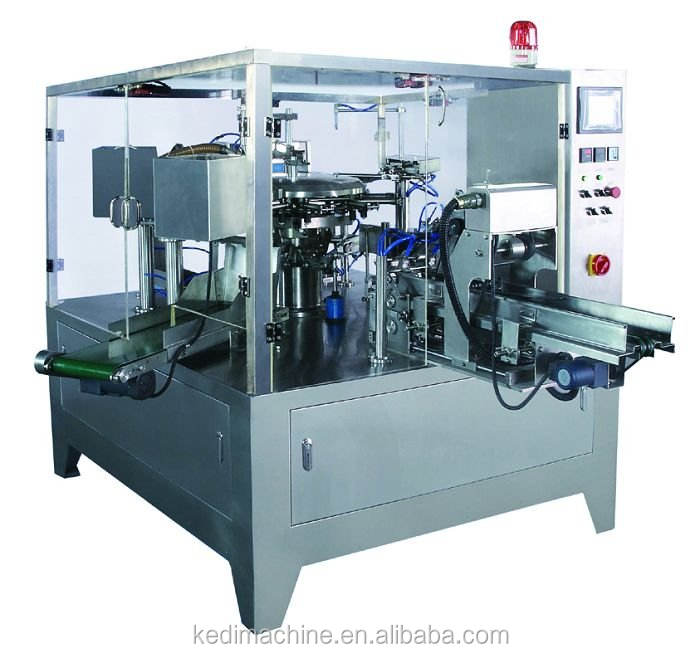 Solid Weigh Filling Sealing Production Line Rotary Packing Machine