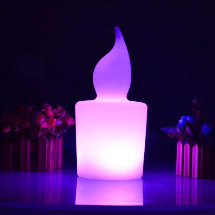 Modern rechargeable waterproof led candle light color glowing candles