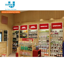 Retail Health Food Vitamin Store Interior Decoration Design Supply Natural Health Food Shop Furniture Display Fixture
