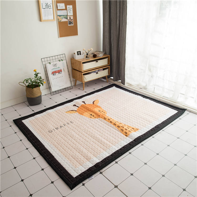 Comfortable eco friendly foldable baby rug play mat