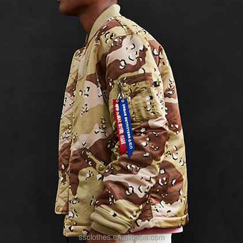 Industries ma-1 long bomber army jacket men satin jackets wholesale