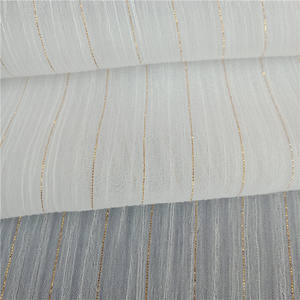 Polyester Crepe Metallic Ggold Chiffon Fabric for Dress and Blouse