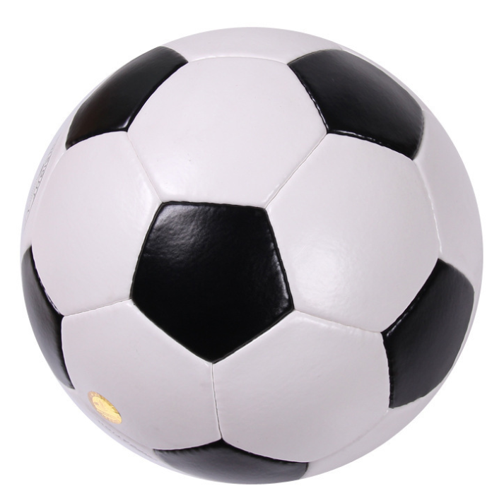 All white pvc leather cheap soccer ball size 5 with white valve