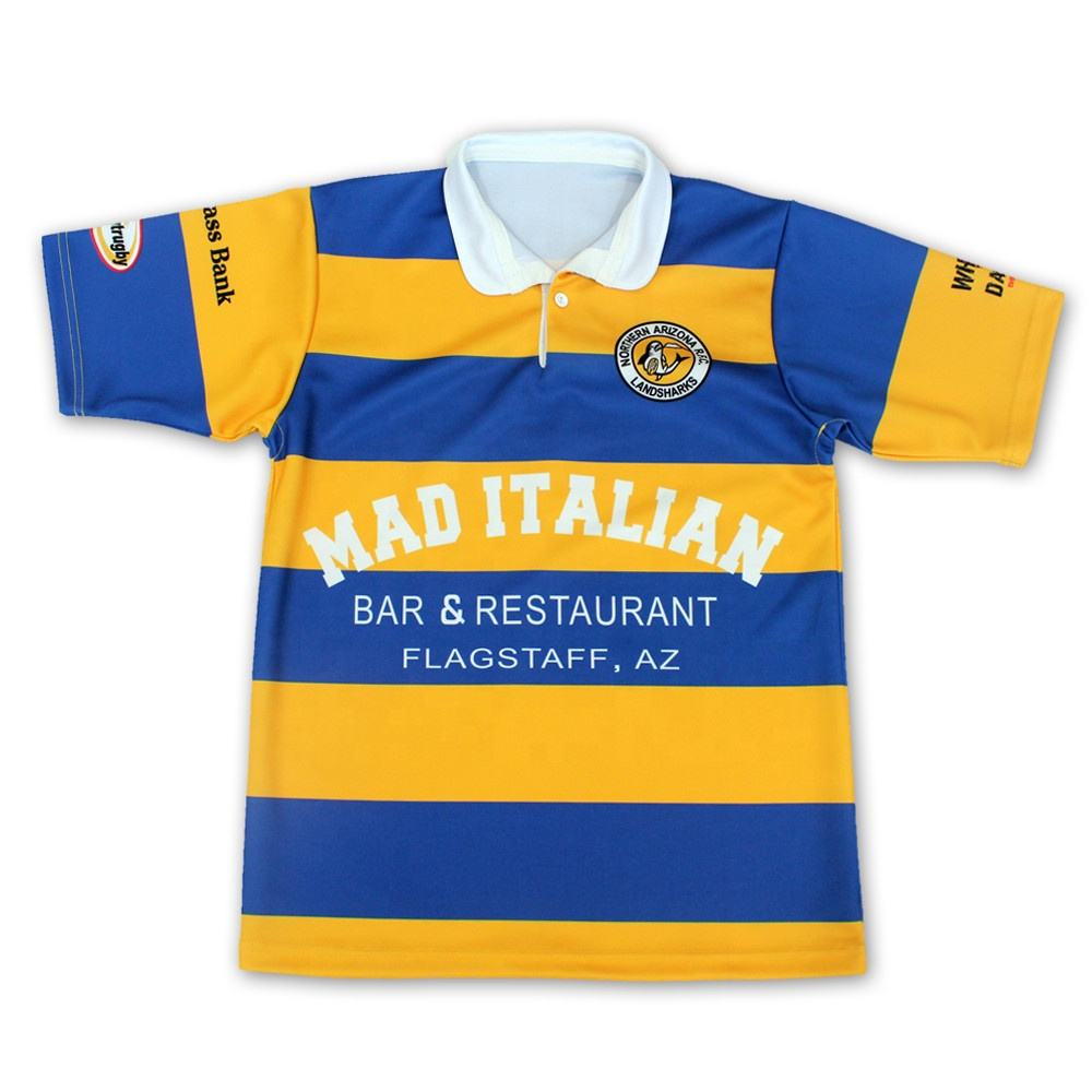 Authentic training custom sublimated rugby shirts classic rugby jerseys
