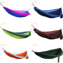 Top quality Hammock Adjustable Hanging Straps Ultralight Resistant Parachute nylon camping hammock