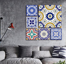 Pop Multi Panel Floral Pattern Art Canvas Print For Wall Art Paint