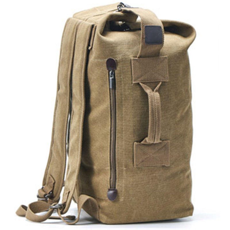 Stylish high-capacity canvas backpack travel outdoor camping hiking backpack custom tactical backpack