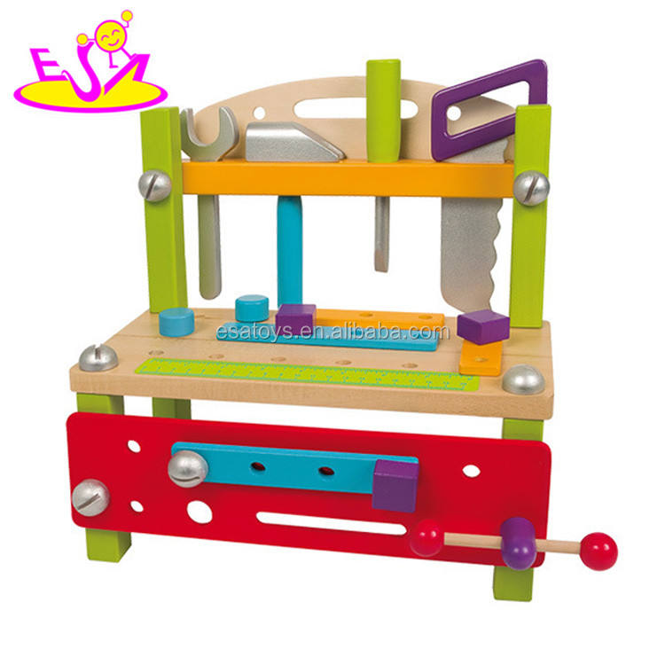 New children building play wooden toy tool bench for DIY W03D085