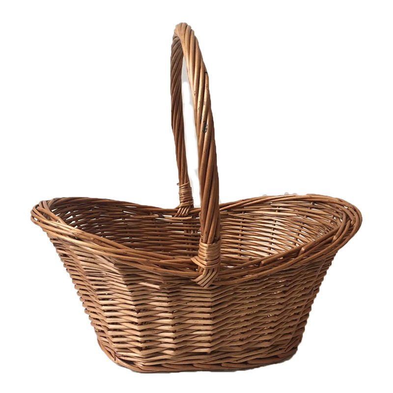 Gift Christmas For Fruit Sundries Bread Storage Pick Basket Wicker Handle