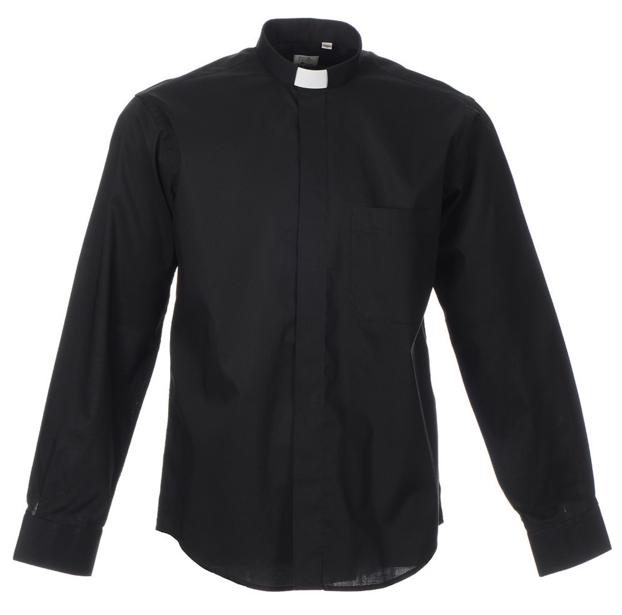 noir//blanc Homme Clergé chemise bicolore à manches longues french cuff Onglet Col