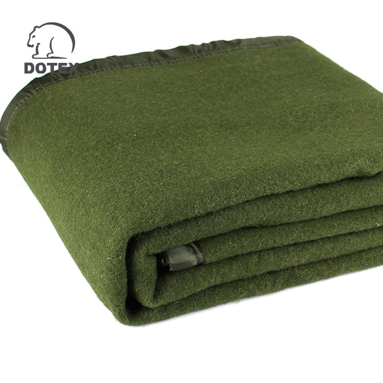 Home textile blanket factory 2019 new 100% polyester thick military army blanket