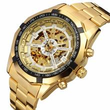 Winner Watch Men Skeleton Automatic Mechanical  Gold Vintage Watch Mens FORSINING Watch Top Brand Luxury